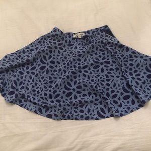 Silk flower skirt blue